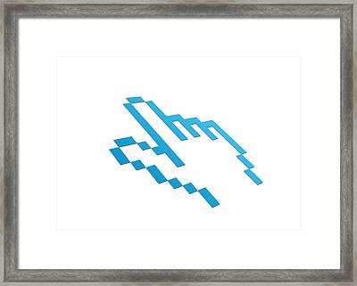 Perspective Computer Cursor Framed Print