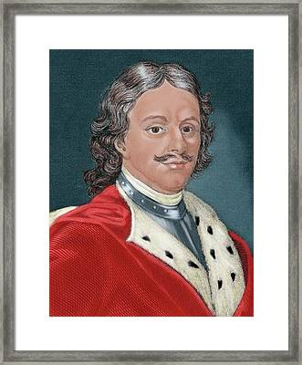 Peter I Alexeievitch The Great Framed Print by Prisma Archivo
