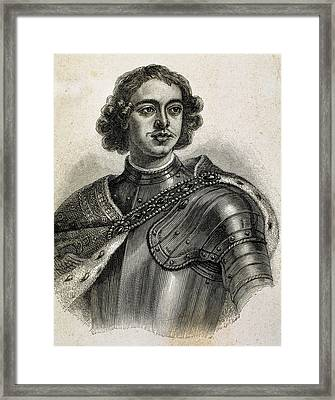 Peter I The Great (1672-1725 Framed Print