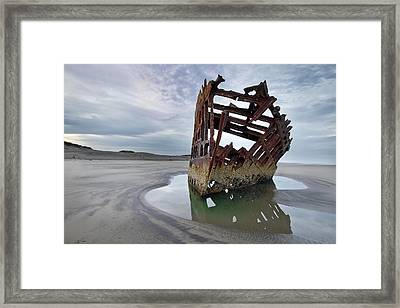 Peter Iredale At Dawn Framed Print by David Gn