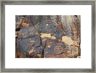 547p Petroglyph - Nine Mile Canyon Framed Print