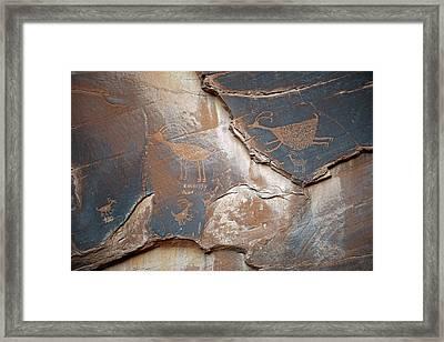 Petroglyphs Framed Print