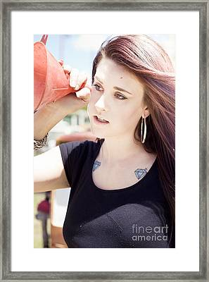 Petrol And Gas Shortage In Sight Framed Print by Jorgo Photography - Wall Art Gallery