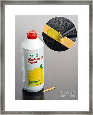 Ph Of Washing-up Liquid Framed Print