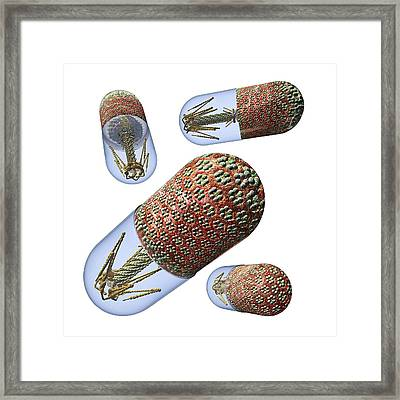 Phage Therapy Capsules Framed Print