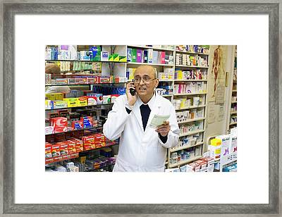 Pharmacist Framed Print
