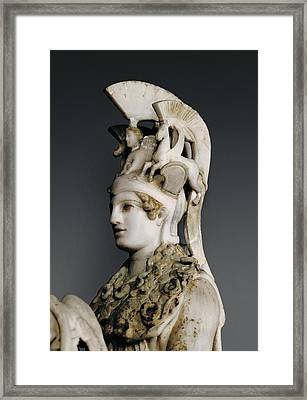 Phidias 490 -431 Bc. Varvakeion Athena Framed Print by Everett