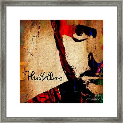 Phil Collins Collection Framed Print by Marvin Blaine