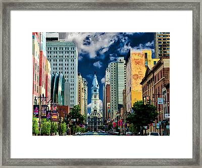 Philadelphia Blue Skies Framed Print