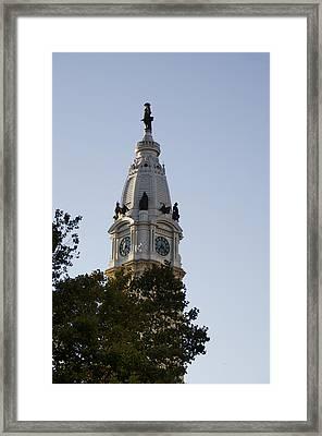 Philadelphia City Hall Tower Framed Print by Bill Cannon