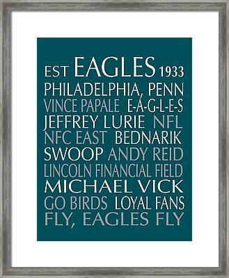 Philadelphia Eagles Framed Print by Jaime Friedman