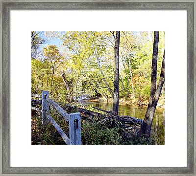Philadelphia Landmark Pennypack Creek In Autumn Framed Print