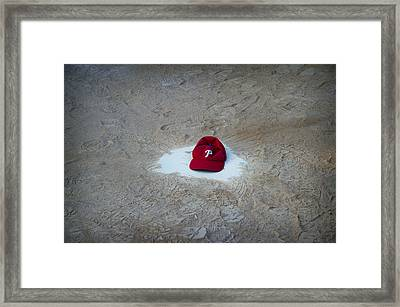 Phillies Home Plate Framed Print by Bill Cannon
