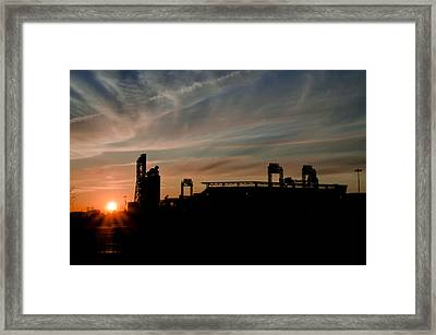Phillies Stadium At Dawn Framed Print by Bill Cannon