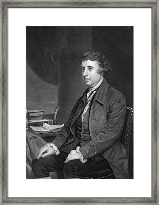 Philosopher Edmund Burke Framed Print by Underwood Archives