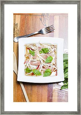 Pho Vietnamese Rice Noodle Soup Framed Print by Jorgo Photography - Wall Art Gallery