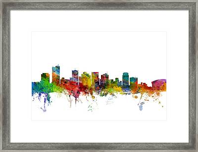 Phoenix Arizona Skyline Framed Print