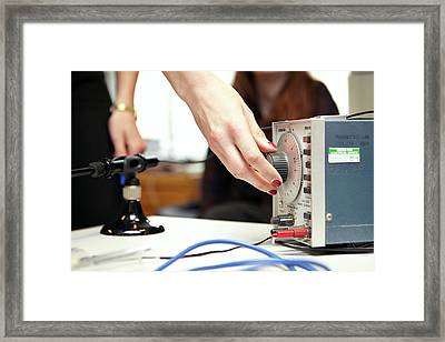 Phonetics Practical Framed Print by Ps Unlimited/oxford University Images