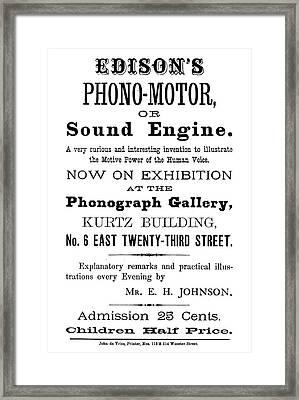 Phonograph Ad, C1880 Framed Print by Granger