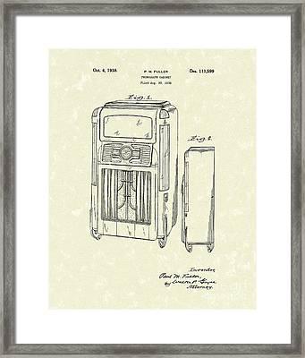 Phonograph Cabinet 1938 Patent Art Framed Print by Prior Art Design