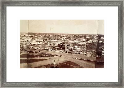 Photograph Of Calcutta Framed Print