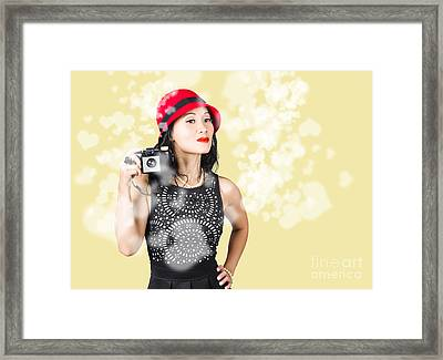 Photographer Taking Photos With Retro Film Camera Framed Print by Jorgo Photography - Wall Art Gallery