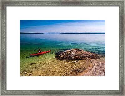 Photographing Fishing Cone Framed Print by Chuck De La Rosa