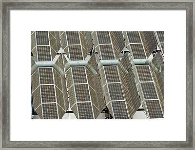 Photovoltaic Power Plant Framed Print by Philippe Psaila