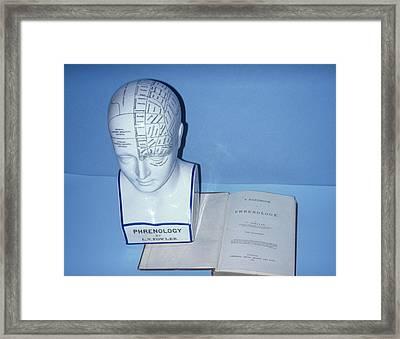 Phrenology Head Framed Print