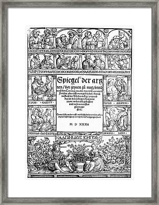 Physicians, 1532 Framed Print