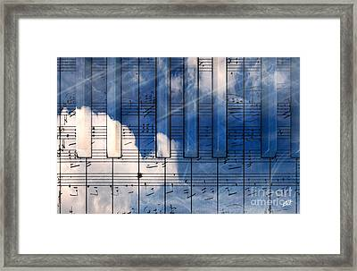 Piano Framed Print by Bruno Haver