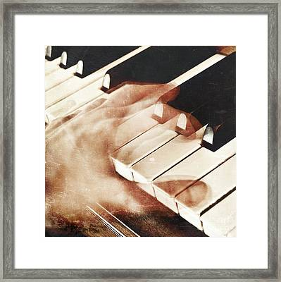 Piano Framed Print by HD Connelly