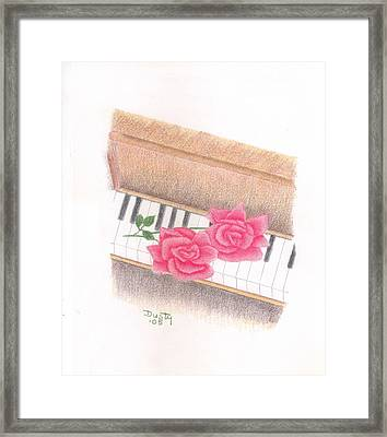 Piano Pinks Framed Print by Dusty Reed
