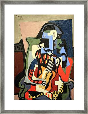 Picasso's Harlequin Musician Framed Print