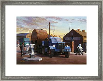 Pickfords Diamond T Framed Print by Mike  Jeffries