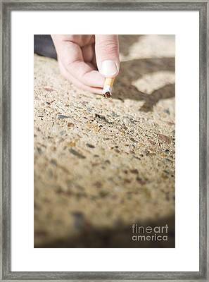 Picking Up Litter Framed Print by Jorgo Photography - Wall Art Gallery
