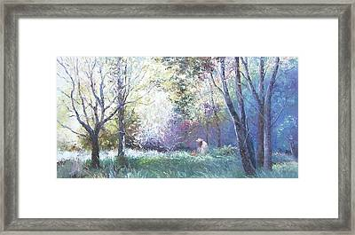 Picking Wildflowers Framed Print