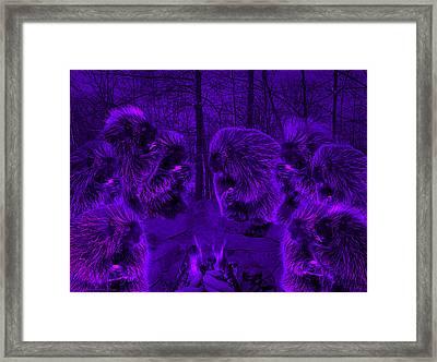 Picky Eaters In The Moonlight Framed Print by LeeAnn McLaneGoetz McLaneGoetzStudioLLCcom