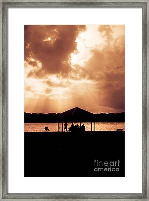 Picnic Silhouettes Framed Print