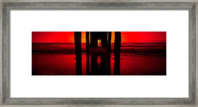 Pier In The Pacific Ocean, Manhattan Framed Print by Panoramic Images