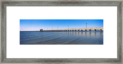 Pier In The Sea, Biloxi, Mississippi Framed Print