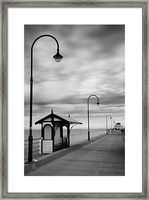 Pier Into The Past Framed Print by Shari Mattox