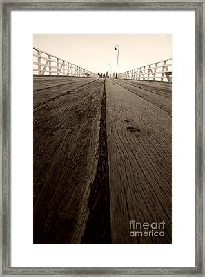 Pier Planks Framed Print by Jorgo Photography - Wall Art Gallery