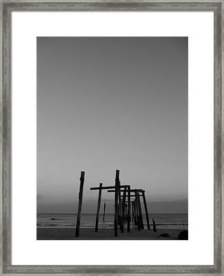 Pier Portrait Framed Print