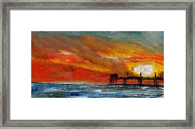 1 Pier Framed Print by R Kyllo