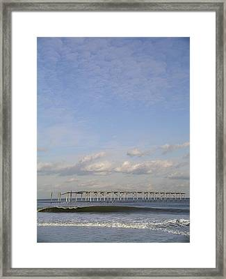 Pier Wave Framed Print