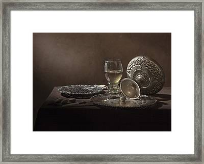 Pieter Claesz - Onbijt With Roemer And Tazza Framed Print by Levin Rodriguez