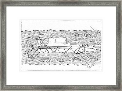 Pig Skin Floatation Devices Framed Print by Cci Archives