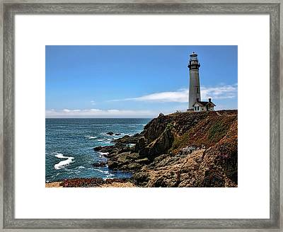 Pigeon Point Lighthouse Framed Print by Judy Vincent