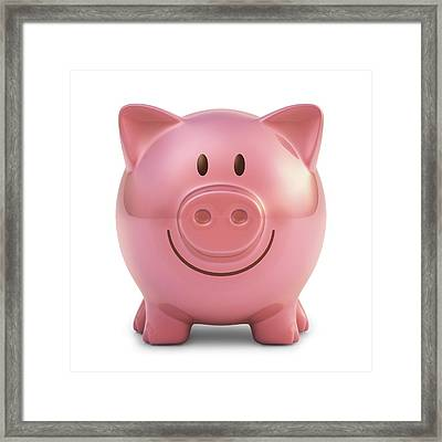 Piggy Bank Framed Print by Ktsdesign